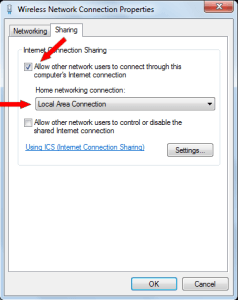 Wireless Network Connection Properties dialog box