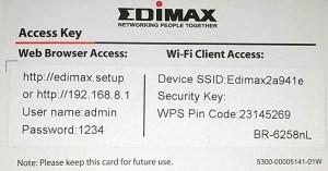 EdiMax Card