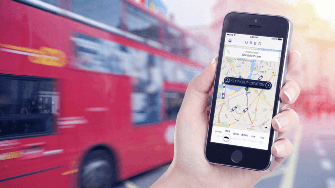 Uber App & the Number 10 Bus