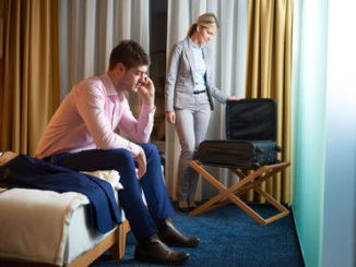 Business Travel with Your Spouse - in hotel room