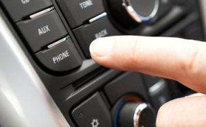 Car Phone Button being pushed