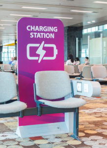 Airport Phone Charging Station