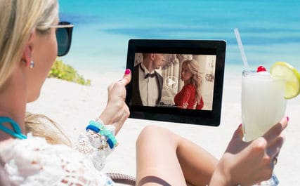 Streaming TV To A Tablet While Sitting On Beach