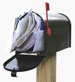 Mailbox Stuffed with Letters